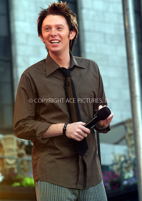 """July 2, 2004- Clay Aiken performs on """"Good Morning America"""" in New York City.."""