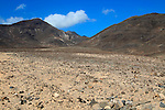 Barren rocky mountains, Jandia peninsula, Fuerteventura, Canary Islands, Spain