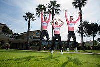 Jump for joy!<br /> Team Orica-GreenEDGE succeeds in putting 3 consecutive Australian riders in the pink jersey in the first week of racing: Simon Gerrans (AUS/Orica-GreenEDGE), Michael Matthews (AUS/Orica-GreenEDGE) & Simon Clarke (AUS/Orica-GreenEDGE).<br /> A great achievement by the Australian Team.<br /> <br /> 2015 Giro