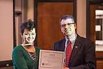 Karie Whitman won the People's Choice Award for her masters 3 Minute Thesis presentation at the Stocker Center on February 15, 2017.