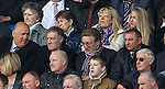 Neil Warnock watching the game from the members lounge