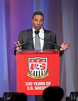 Tony DiCicco. US Soccer held their Centennial Gala at the National Building Museum in Washington DC.