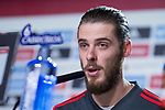 Spain coach David de Gea during press conference the day before Spain and Argentina match at Wanda Metropolitano in Madrid , Spain. March 26, 2018. (ALTERPHOTOS/Borja B.Hojas)