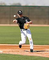 Brent Lillibridge -  Chicago White Sox - 2009 spring training.Photo by:  Bill Mitchell/Four Seam Images