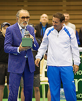 06-04-13, Tennis, Rumania, Brasov, Daviscup, Rumania-Netherlands,awards fot Titiac and Pavel(l)