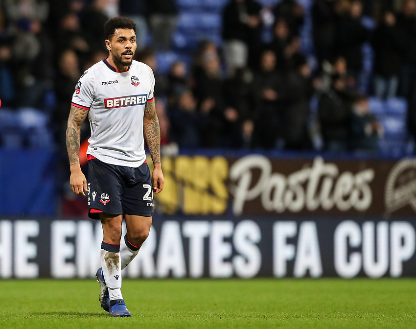 Bolton Wanderers' Josh Magennis <br /> <br /> Photographer Andrew Kearns/CameraSport<br /> <br /> Emirates FA Cup Third Round - Bolton Wanderers v Walsall - Saturday 5th January 2019 - University of Bolton Stadium - Bolton<br />  <br /> World Copyright © 2019 CameraSport. All rights reserved. 43 Linden Ave. Countesthorpe. Leicester. England. LE8 5PG - Tel: +44 (0) 116 277 4147 - admin@camerasport.com - www.camerasport.com
