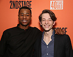 "J. Alphonse Nicholson and Mike Faist attends the After Party for the Second Stage Production of ""Days Of Rage"" at Churrascaria Platforma on October 30, 2018 in New York City."