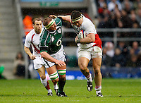 Photo: Richard Lane/Richard Lane Photography. .England v Ireland. RBS Six Nations. 15/03/2008. England's Andrew Sheridan is tackled by Ireland's Mick O'Driscoll.