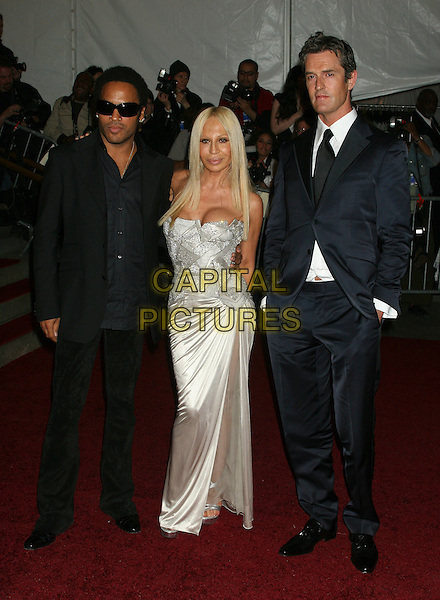 "LENNY KRAVITZ, DONATELLA VERSACE & RUPERT EVERETT.Arrivals at the Metropolitan Museum of Art Costume Institute Benefit Gala ""AngloMania: Tradition and Transgression in British Fashion"" at the Metropolitan Museum of Art, New York - NY, USA..May 1st, 2006.Ref: IW.full length black blue suit white gown dress.www.capitalpictures.com.sales@capitalpictures.com.©Capital Pictures"