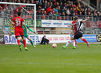Grimsby Town's Sam Jones shoots on goal during the Sky Bet League 2 match between Leyton Orient and Grimsby Town at the Matchroom Stadium, London, England on 11 March 2017. Photo by Carlton Myrie / PRiME Media Images.