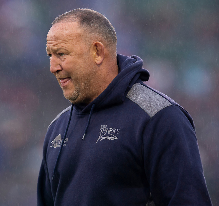Sale Sharks' Head Coach Steve Diamond<br /> <br /> Photographer Bob Bradford/CameraSport<br /> <br /> Gallagher Premiership Round 9 - Bath Rugby v Sale Sharks - Sunday 2nd December 2018 - The Recreation Ground - Bath<br /> <br /> World Copyright © 2018 CameraSport. All rights reserved. 43 Linden Ave. Countesthorpe. Leicester. England. LE8 5PG - Tel: +44 (0) 116 277 4147 - admin@camerasport.com - www.camerasport.com