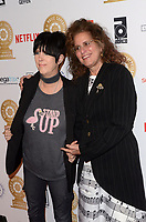 LOS ANGELES - FEB 8:  Diane Warren, Bonnie Greenberg at the Guild of Music Supervisors Awards at The Theatre at Ace Hotel on February 8, 2018 in Los Angeles, CA