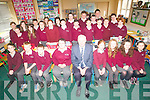Pictured with 5th and 6th class pupils of Kilgarvan National School is Principal Sean Doherty who is retiring this week.