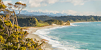 Three Mile beach near Okarito, Westland Tai Poutini National Park, West Coast, UNESCO Wolrd Heritage Area, New Zealand, NZ