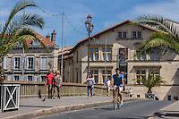 France, Aquitaine, Pyrénées-Atlantiques, Pays Basque, Bayonne:   Bords de la Nive ,  Maison dite de Dagourette ou Musée basque // France, Pyrenees Atlantiques, Basque Country, Bayonne:    house called Dagourette or Basque Museum