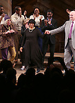 Allee Willis, Alice Walker and John Doyle during the Broadway Opening Night Performance Curtain Call for 'The Color Purple' at the Bernard B. Jacobs Theatre on December 10, 2015 in New York City.