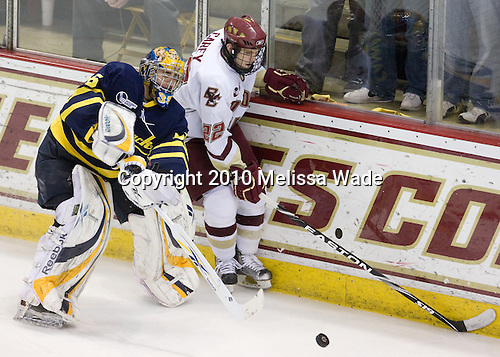 Joe Cannata (Merrimack - 35), Paul Carey (BC - 22) - The Boston College Eagles defeated the Merrimack College Warriors 7-0 on Tuesday, February 23, 2010 at Conte Forum in Chestnut Hill, Massachusetts.
