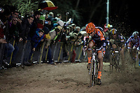 Wout Van Aert (BEL/Vastgoedservice-Golden Palace) plowing through the sand<br /> <br /> Superprestige Diegem 2015