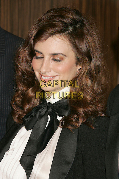 PENELOPE CRUZ.Hollywood Film Festival 10th Annual Hollywood Awards Gala Ceremony  held at the Beverly Hilton Hotel. Photo Credit: Russ Elliot/AdMedia.October 23rd, 2006.Ref: ADM/RE.headshot portrait black tie scarf eyes closed eyeshadow.www.capitalpictures.com.sales@capitalpictures.com.©Russ Elliot/AdMedia/Capital Pictures.