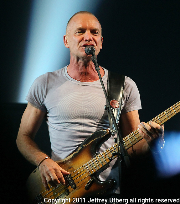 November 8, 2011 New York: Singer / Musician Sting performs at Roseland Ballroom on November 8, 2011 in New York.