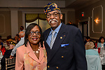 """WATERBURY, CT. 23 May 2018-052318BS93 - Vietnam Veteran Sam Shaw of Waterbury and his wife Jeanette enjoy themselves at the Waterbury Veterans Committee's """"Support Our Troops"""" Annual Dinner at the Ponte Club on Wednesday evening. Bill Shettle Republican-American"""