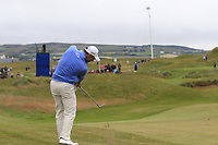 Oliver Wilson (ENG) plays his 2nd shot on the 17th hole during Saturday's Round 3 of the Dubai Duty Free Irish Open 2019, held at Lahinch Golf Club, Lahinch, Ireland. 6th July 2019.<br /> Picture: Eoin Clarke | Golffile<br /> <br /> <br /> All photos usage must carry mandatory copyright credit (© Golffile | Eoin Clarke)