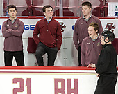 Brian Hurley (BC - Student Manager), Chuck Van Kula (BC - Student Manager) - The visiting University of Vermont Catamounts tied the Boston College Eagles 2-2 on Saturday, February 18, 2017, Boston College's senior night at Kelley Rink in Conte Forum in Chestnut Hill, Massachusetts.Vermont and BC tied 2-2 on Saturday, February 18, 2017, Boston College's senior night at Kelley Rink in Conte Forum in Chestnut Hill, Massachusetts.