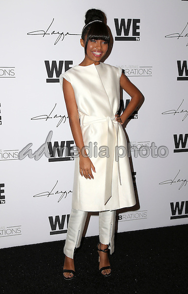 """29 January 2016 - Hollywood, California - Yara Shahidi. """"Daya"""" By Zendaya Shoe Line Launch Party to be featured on an upcoming episode of WE tv's David Tutera's CELEBrations held at Raleigh Studios. Photo Credit: Parisa Michelle/AdMedia"""