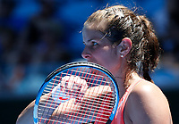 14th January 2019, Melbourne Park, Melbourne, Australia; Australian Open Tennis, day 1; <br /> Harriet Dart of Great Britain reacts during the match against Maria Sharapova of Russia
