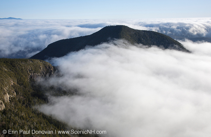 Undercast from the summit of Mount Osceola in the White Mountains, New Hampshire USA. The area in the foreground was logged during the Mad River Logging Era.