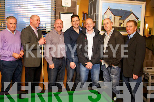 Mikey Sheehy, Stephen O'Brien, John Leahy, Darragh O'Se, Niall Cahalane, CJ Sheehy and Dinny Allen pictured at the Sporting Legends night in aid of the Paul Curran Trust at the Ballyroe Heights Hotel on Sunday night..