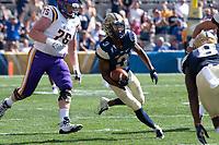 Pitt defensive back Damar Hamlin (3) returns an interception. The Pitt Panthers football team defeated the Albany Great Danes 33-7 on September 01, 2018 at Heinz Field, Pittsburgh, Pennsylvania.