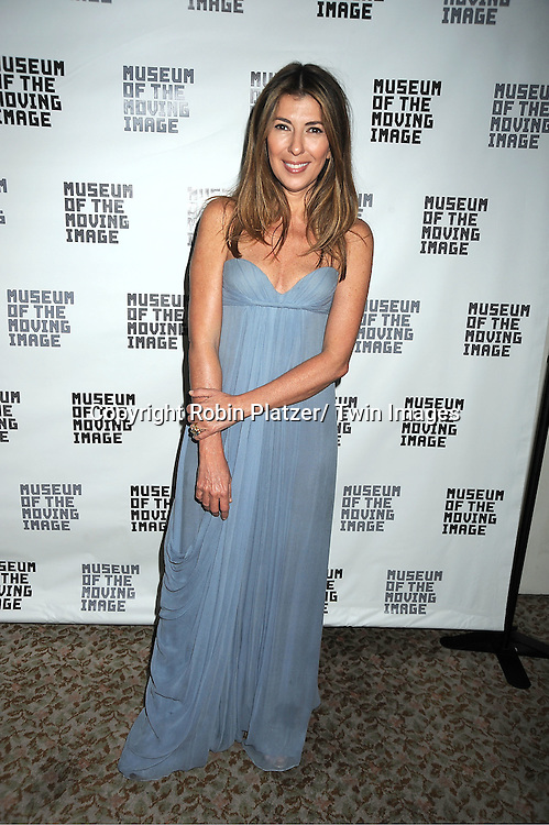 Nina Garcia in Oscar de la Renta attends the Museum of the Moving Image Benefit honoring Philippe Dauman of Viacom, Randy Falco of Univision and George S Kaufman of Kaufman Astoria Studios on April 19, 2012 at The St Regis Hotel in New York City.