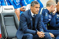 Chris Hughton Manager of Brighton & Hove Albion during the Premier League match between Brighton and Hove Albion and Everton at the American Express Community Stadium, Brighton and Hove, England on 15 October 2017. Photo by Edward Thomas / PRiME Media Images.