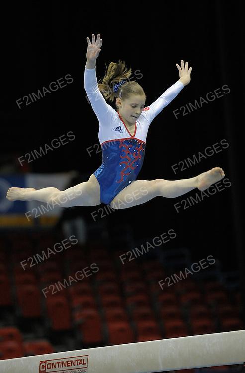 28.4.10 European Gymnastics Championships .Junior Qualifications and Team Finals.Thobie of France.