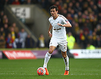 Jack Cork of Swansea   during the Emirates FA Cup 3rd Round between Oxford United v Swansea     played at Kassam Stadium  on 10th January 2016 in Oxford