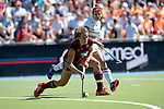 GER - Mannheim, Germany, May 27: During the women semi-final match between UHC Hamburg and Rot-Weiss Koeln at the Final4 tournament May 27, 2017 at Am Neckarkanal in Mannheim, Germany. (Photo by Dirk Markgraf / www.265-images.com) *** Local caption *** Janne Mueller-Wieland #13 of Uhlenhorster HC Hamburg