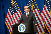 United States Secretary of Labor Alex Acosta holds a press conference at the Department of Labor in Washington, DC on Wednesday, July 10, 2019.  He was discussing the Epstein Case.<br /> Credit: Ron Sachs / CNP<br /> (RESTRICTION: NO New York or New Jersey Newspapers or newspapers within a 75 mile radius of New York City)