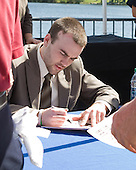 Jack Connolly (UMD) - The members of the Hobey Hat Trick joined the Boston College Eagles and Ferris State Bulldogs at an autograph signing at Channelside Bay Plaza on Friday, April 6, 2012, in Tampa, Florida.