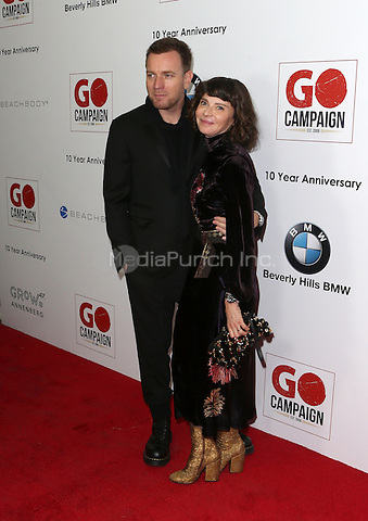 Los Angeles, CA - NOVEMBER 05: Eve Mavrakis, Ewan McGregor at The 10th Annual GO Campaign Gala in Los Angeles At Manuela, California on November 05, 2016. Credit: Faye Sadou/MediaPunch