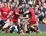 Geoff Cross of Scotland is stopped yards from the try line - RBS 6Nations 2015 - Scotland  vs Wales - BT Murrayfield Stadium - Edinburgh - Scotland - 15th February 2015 - Picture Simon Bellis/Sportimage