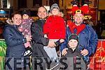 L-R Patrycja Zawistowska, Anastazja Zyla, Grzegorz Zyla and Wiktor Labak from Killarney, Aidan and Conor Cullinane from Fossa at the Christmas in Killarney Children's Magic Parade last Saturday.