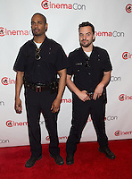 LAS VEGAS, NV - March 27: Damon Wayans Jr. and Jake Johnson pictured arriving at 20th Century Fox Presentation at Cinemacon 2014 at Caesars Palace in Las Vegas, NV on March 27, 2014. © Kabik/ Starlitepics