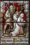 Stained glass east window detail Shepherds church of Aldeburgh, Suffolk, England, UK c1891 J Hardman