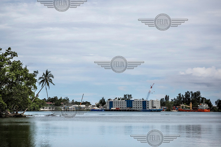 The 'floating hotel' docked near the Refugee Processing Centre at Lombrum on Manus Island, where Australian personnel working at the centre were housed until recently. The ship was due to leave in mid-November when on-shore accommodation was completed.<br /> The Manus Island Regional Processing Centre, along with another detention centre on the island of Nauru, was established in the early 2000s as part of Australia's 'Pacific Solution' to its asylum issue. Instead of housing and processing asylum seekers on the Australian mainland, the Australian immigration authorities built the two facilities and continues to operate them through private security companies. They have been marred by controversy with human rights organisations raising concerns about the living conditions of asylum seekers and cases of physical and sexual abuse as well as a number of death occurring over the years.