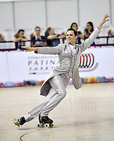 CALI – COLOMBIA – 19 – 09 – 2015: Rafael Nieva, deportista de Argentina, durante la prueba de Solo Danza Obligatorias Mayores Varones, en el LX Campeonato Mundial de Patinaje Artistico, en el Velodromo Alcides Nieto Patiño de la ciudad de Cali. / Rafael Nieva, sportman of Argentina, during the Compulsory Solo Dance Senior Men test, in the LX World Championships  Figure Skating, at the Alcides Nieto Patiño Velodrome in Cali City. Photo: VizzorImage / Luis Ramirez / Staff.