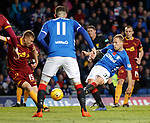 11.11.2018 Rangers v Motherwell: Scott Arfield scores goal no 5 of the afternoon for Rangers