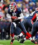 28 December 2008: Buffalo Bills' quarterback Trent Edwards makes a handoff against the New England Patriots at Ralph Wilson Stadium in Orchard Park, NY. The Patriots kept their playoff hopes alive defeating the Bills 13-0 in their 16th win against Buffalo of their past 17 meetings. ***** Editorial Use Only ******..Mandatory Photo Credit: Ed Wolfstein Photo