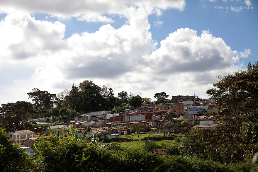View of Kawangware slum in Nairobi on April 14, 2013. Photo by Benedicte Desrus