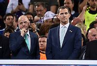 FUSSBALL  CHAMPIONS LEAGUE  FINALE  SAISON 2015/2016   Real Madrid - Atletico Madrid                   28.05.2016 Gianni Infantino (li) und Felipe VI  auf dem Podium